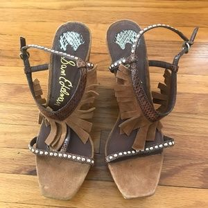 Sam Edelman | Brown Leather Justine Sandals Wedges